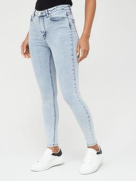 V by Very V By Very Ella High Waist Acid Wash Skinny Jeans - Mid Wash Picture
