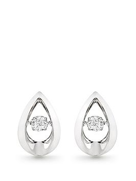 Beaverbrooks Beaverbrooks Dance 9Ct White Gold Diamond Earrings Picture