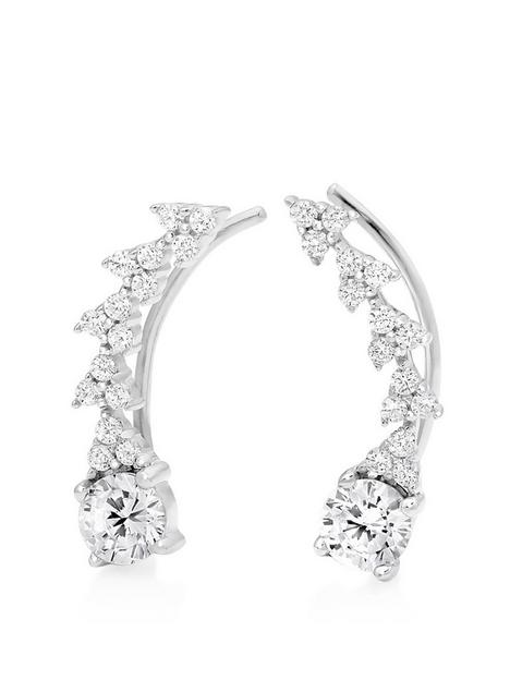 beaverbrooks-silver-cubic-zirconia-climber-earrings
