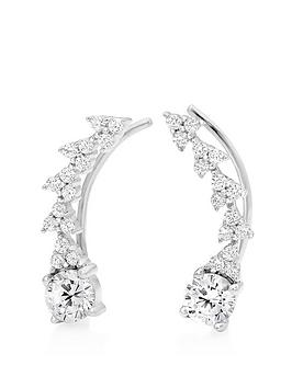 Beaverbrooks Beaverbrooks Silver Cubic Zirconia Climber Earrings Picture