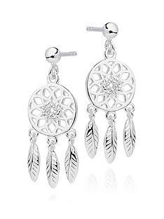 beaverbrooks-silver-cubic-zirconia-dreamcatcher-earrings