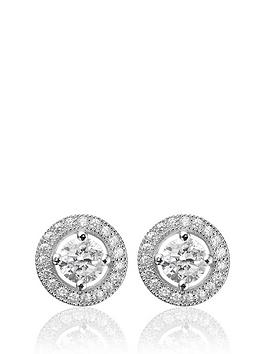 Beaverbrooks Beaverbrooks Silver Cubic Zirconia Stud Earrings Picture