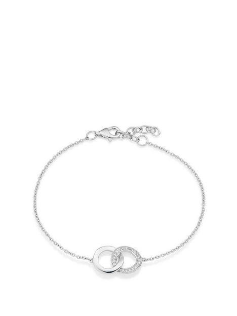 beaverbrooks-silver-cubic-zirconia-double-circle-bracelet