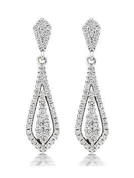 beaverbrooks-silver-cubic-zirconia-drop-earrings