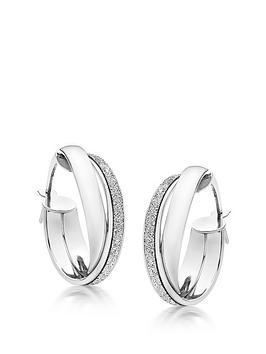beaverbrooks-9ct-white-gold-glitter-hoop-earrings