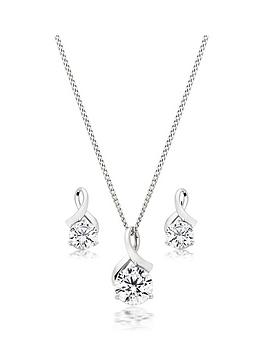Beaverbrooks Beaverbrooks 9Ct White Gold Cubic Zirconia Pendant And  ... Picture