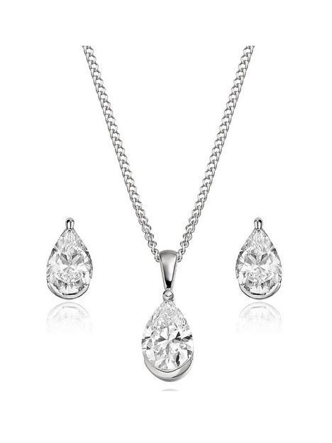 beaverbrooks-9ct-white-gold-cubic-zirconia-pear-shaped-pendant-and-earring-set