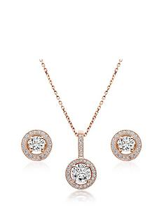 beaverbrooks-silver-rose-gold-plated-cubic-zirconia-pendant-and-stud-earring-set