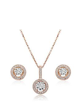 Beaverbrooks Beaverbrooks Silver Rose Gold Plated Cubic Zirconia Pendant  ... Picture
