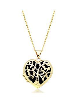 Beaverbrooks Beaverbrooks 9Ct Gold Tree Heart Locket Picture