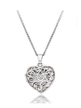 Beaverbrooks Beaverbrooks Silver Heart Locket Pendant Picture