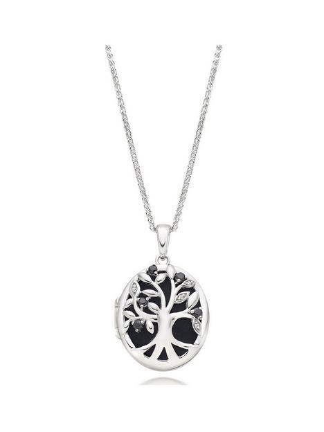beaverbrooks-silver-cubic-zirconia-tree-locket