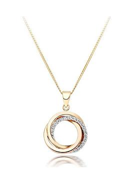 beaverbrooks-9ct-three-colour-gold-cubic-zirconia-circles-pendant