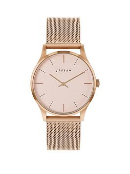 Jigsaw Jigsaw Jigsaw Blush Dial Rose Gold Stainless Steel Mesh Strap  ... Picture