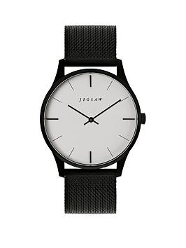 Jigsaw Jigsaw Jigsaw White And Black Detail Dial Black Stainless Steel  ... Picture