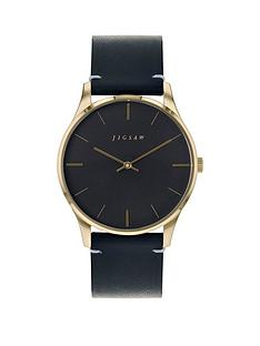 jigsaw-jigsaw-black-and-gold-detail-dial-black-leather-strap-ladies-watch