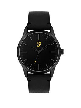Farah Farah Farah Black Dial Black Leather Strap Mens Watch Picture