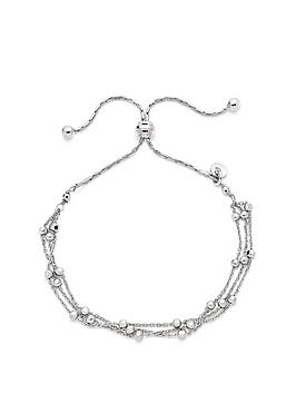 Beaverbrooks Beaverbrooks Silver Triple Strand Bracelet Picture
