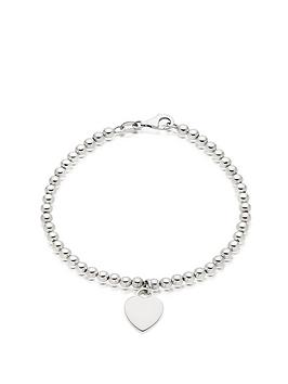 Beaverbrooks Beaverbrooks Silver Ball Heart Bracelet Picture