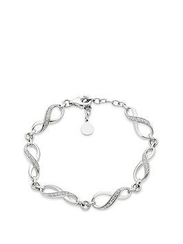Beaverbrooks Beaverbrooks Silver Cubic Zirconia Infinity Bracelet Picture