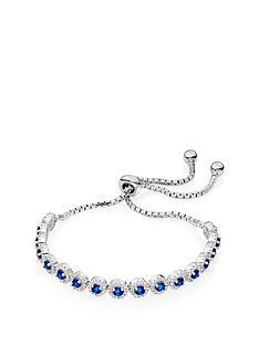 beaverbrooks-silver-blue-cubic-zirconia-halo-slider-bracelet