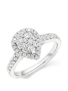 beaverbrooks-platinum-diamond-pear-shaped-cluster-halo-ring