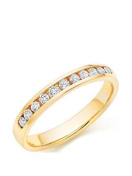 Beaverbrooks Beaverbrooks 18Ct Gold Diamond Half Eternity Ring Picture