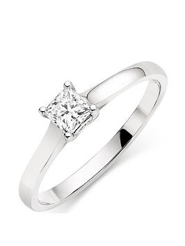 Beaverbrooks Beaverbrooks 18Ct White Gold Diamond Solitaire Ring Picture