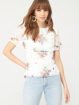 V by Very V By Very Ruffle Sleeve Shell Top - Floral Print Picture