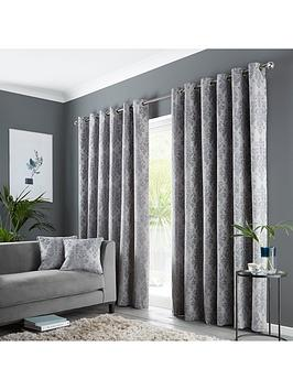Very Damask Eyelet Curtains Picture