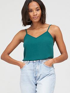 v-by-very-essential-woven-cami-green