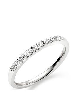 Beaverbrooks Beaverbrooks 18Ct White Gold Diamond Wedding Ring Picture