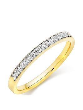 Beaverbrooks Beaverbrooks 18Ct Gold Diamond Half Eternity Wedding Ring Picture