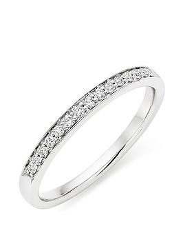 Beaverbrooks Beaverbrooks Platinum Diamond Half Eternity Ring Picture