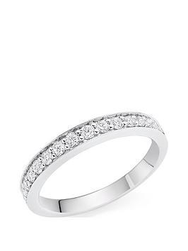Beaverbrooks Beaverbrooks Platinum Diamond Half Eternity Wedding Ring Picture