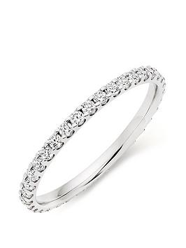 Beaverbrooks Beaverbrooks Platinum Diamond Full Eternity Ladies Ring Picture