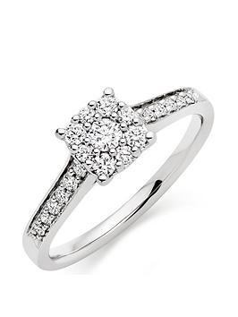 Beaverbrooks Beaverbrooks Platinum Diamond Cluster Ring Picture