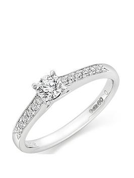 Beaverbrooks Beaverbrooks Platinum Diamond Solitaire Ring Picture