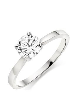 Beaverbrooks Beaverbrooks 9Ct White Gold Cubic Zirconia Solitaire Ring Picture
