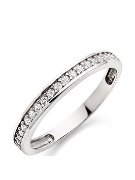 Beaverbrooks Beaverbrooks 9Ct White Gold Cubic Zirconia Eternity Ring Picture