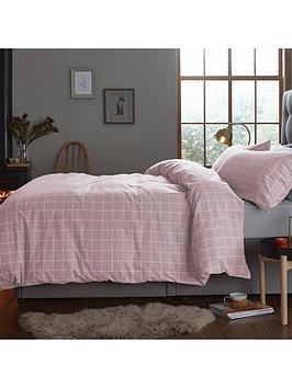 Silentnight Silentnight Contemporary Check Brushed Cotton Duvet Cover Set Picture