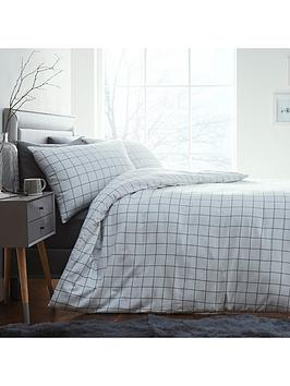 Silentnight Silentnight Contemporary Check Brushed Cotton Duvet Cover Set  ... Picture