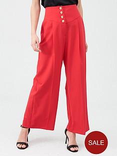 river-island-river-island-corset-waist-wide-leg-trousers-red