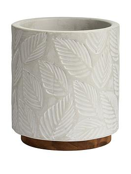 Very Ceramic Leaf Embossed Planter Picture