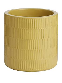 Very Ceramic Ribbed Planter Picture