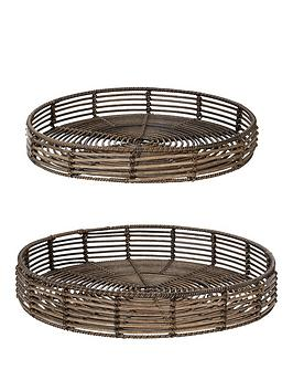Very Nile Rattan-Style Trays - Set Of 2 Picture
