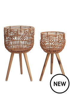 rattan-style-standing-planters-set-of-2