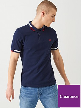 fred-perry-abstract-tipped-polo-shirt-navy