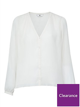 v-by-very-pleated-button-through-blouse-ivory