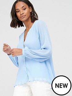 v-by-very-pleated-button-through-blouse